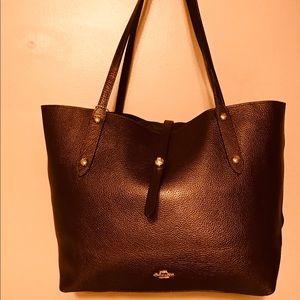 Coach Bronze Metallic Leather Bag